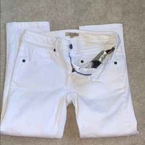 Burberry white capri
